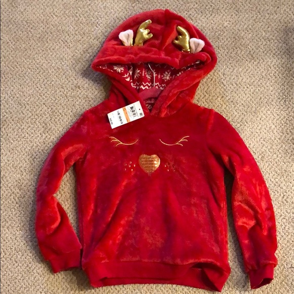 Epic Threads Other - Reindeer velour hoodie